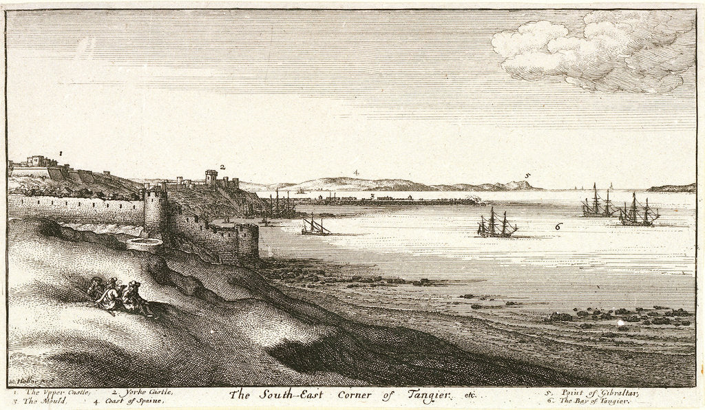 Detail of The southeast corner of Tangier by Wenceslaus Hollar