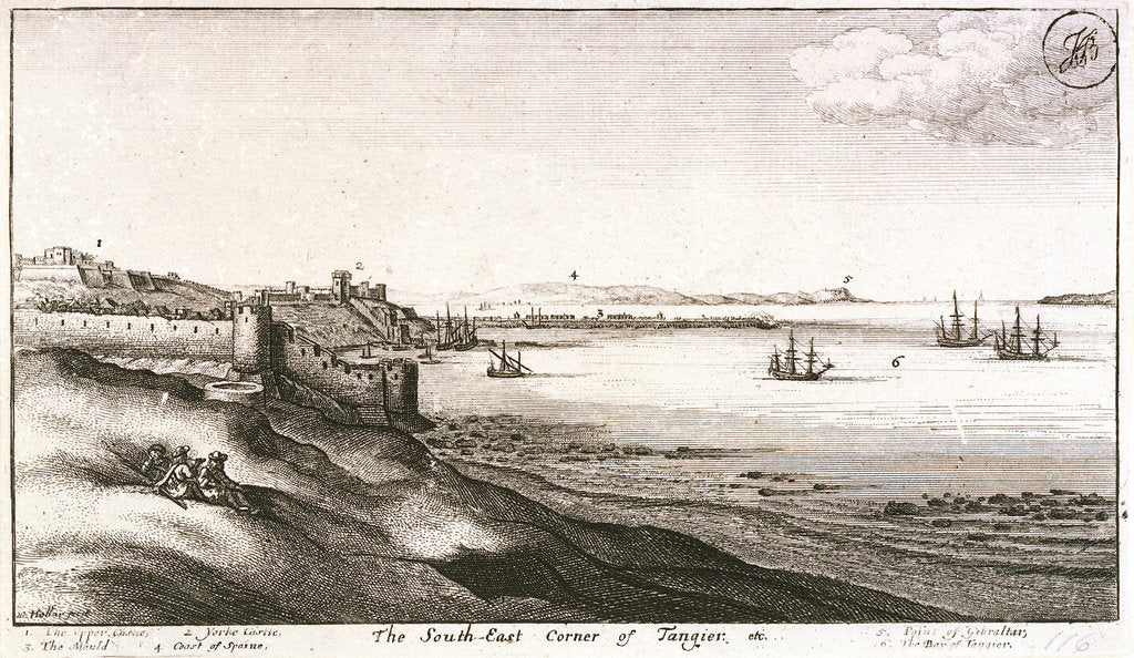 The southeast corner of Tangier by Wenceslaus Hollar