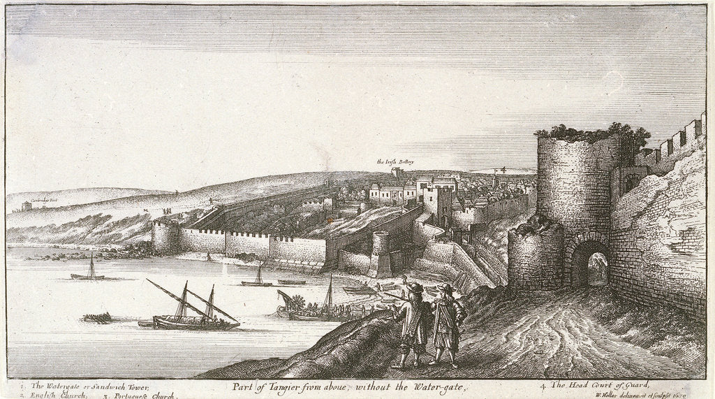 Detail of Part of Tangier from above, without the water-gate by Wenceslaus Hollar