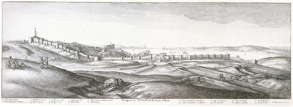 Detail of Prospect of Tangier from the southwest by Wenceslaus Hollar