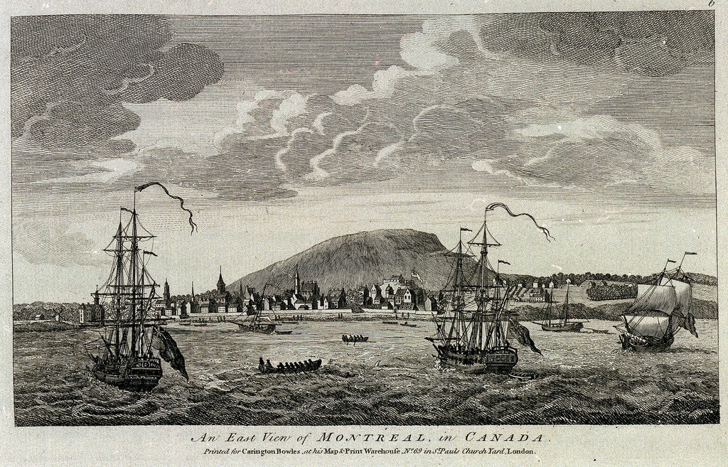 Detail of Twelve Remarkable Views in North America and West Indies. An East View of Montreal in Canada by unknown