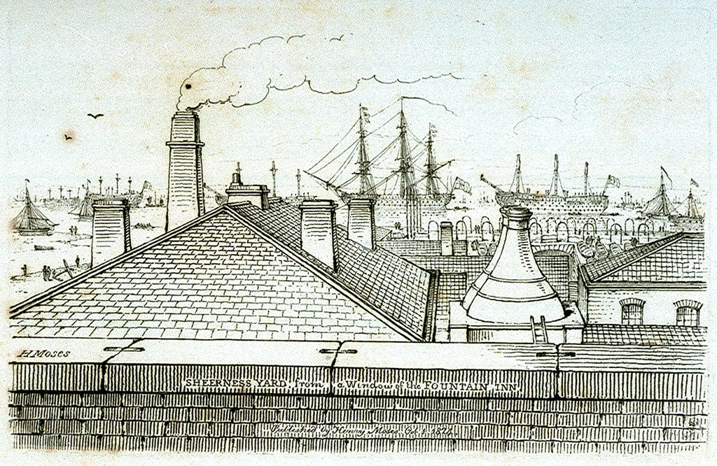 Detail of Sheerness Yard from the window of the Fountain Inn by Chatfield & Coleman