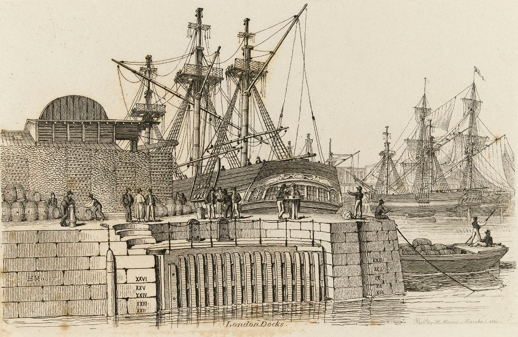 Detail of London Docks by Chatfield & Coleman