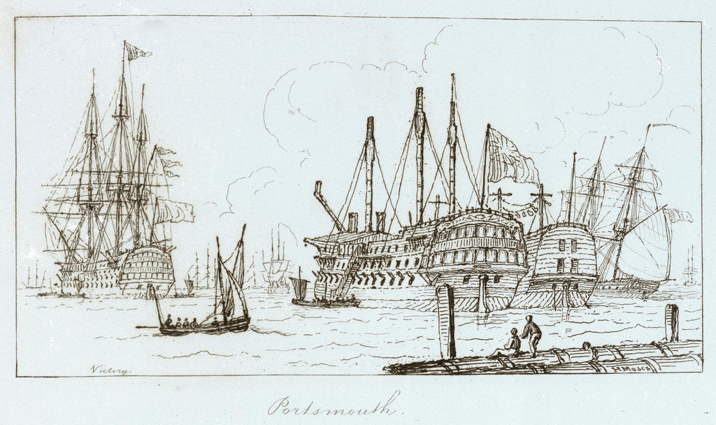 Detail of The Marine sketch book by H. Moses, Portsmouth by Henry Moses