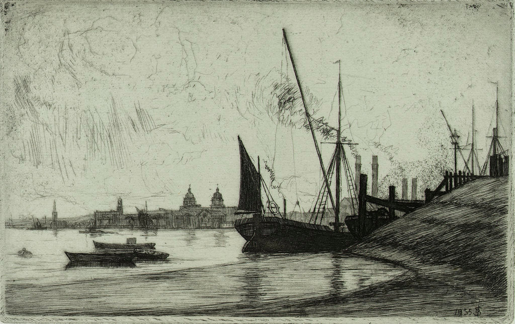 Detail of Distant Greenwich by Douglas I. Smart