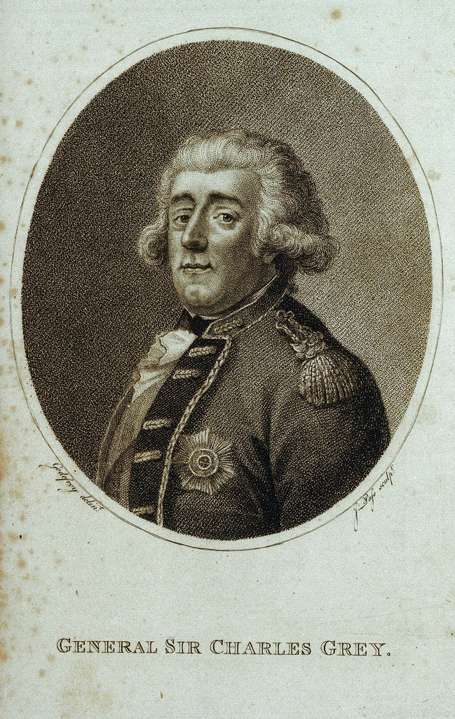 Detail of General Sir Charles Grey by Godefroy