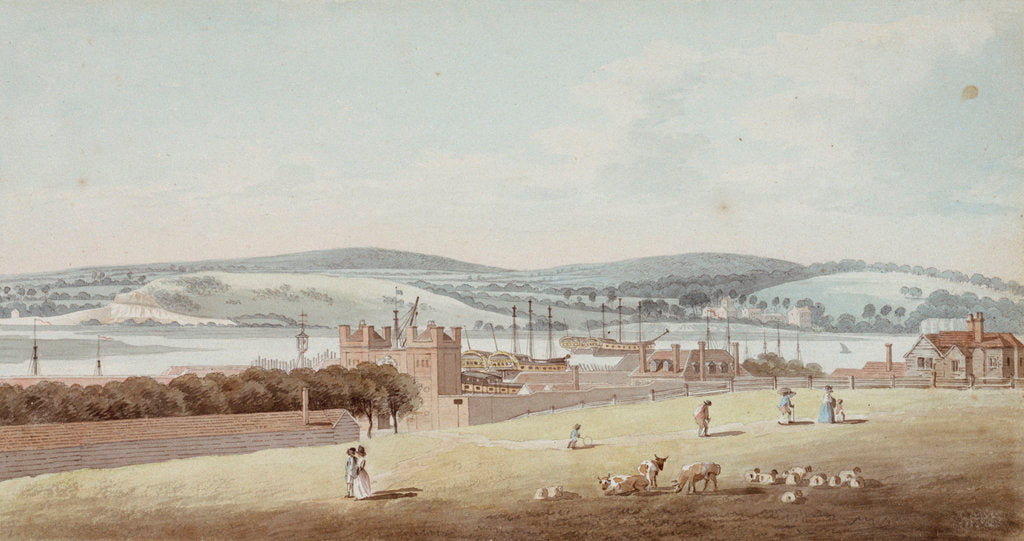 Detail of View of Chatham by George Bulteel Fisher
