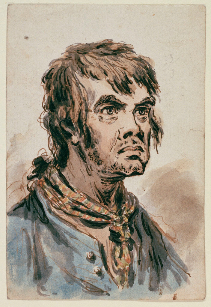 Detail of The head and shoulders of a seaman by James Gillray