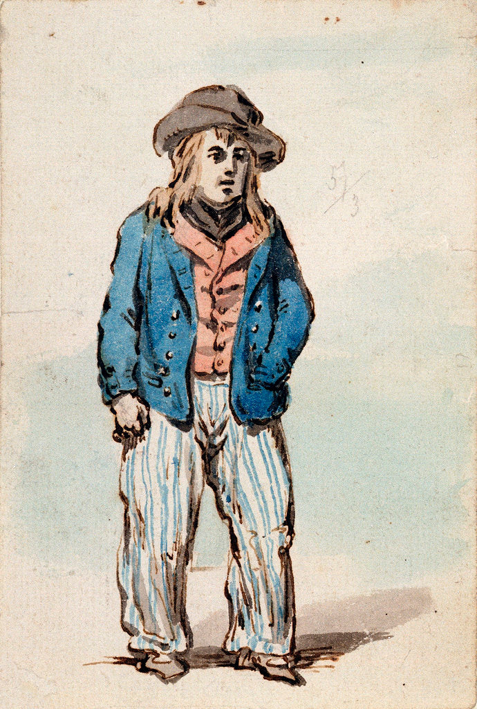 Detail of A young seaman by James Gillray