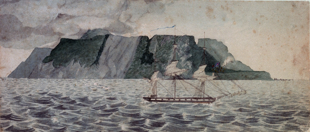 Detail of Island of Tristan de Cunha by British School