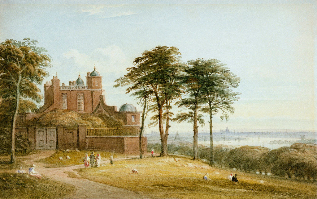 Detail of The Royal Observatory, Greenwich by John Varley