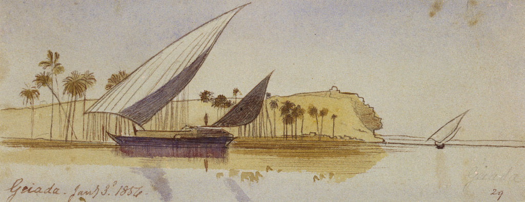 Detail of Geiada, Egypt by Edward Lear