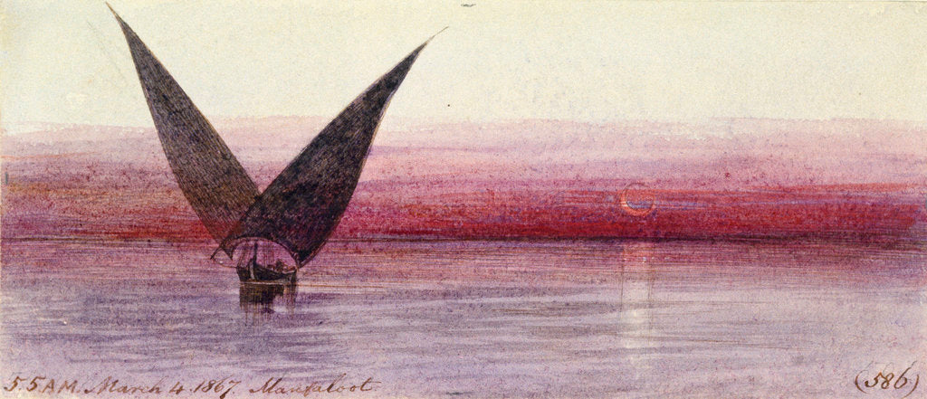 Detail of On the Nile at Manfaloot, Egypt by Edward Lear