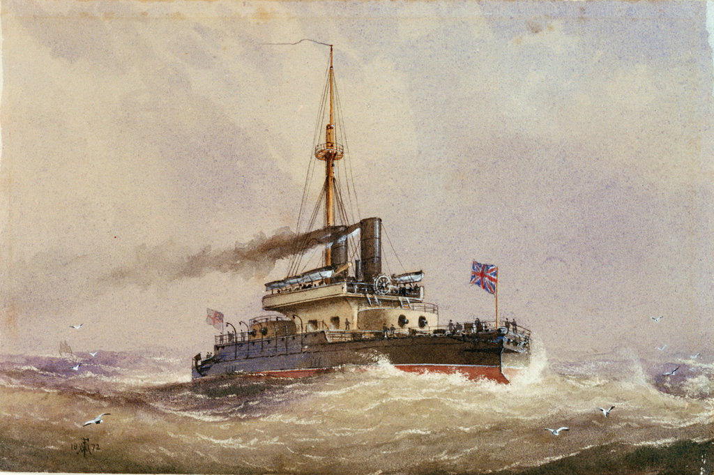 Detail of HMS 'Devastation' by William Frederick Mitchell