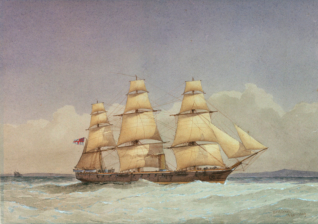 Detail of HMS 'Volage' by William Frederick Mitchell