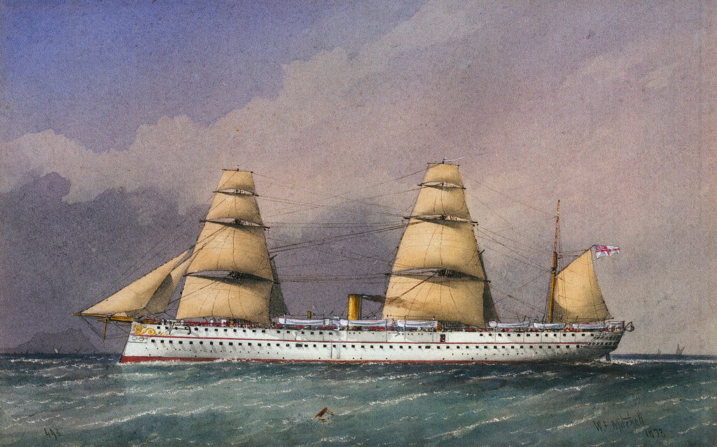 Detail of HMS 'Jumna' No. 493 by William Frederick Mitchell