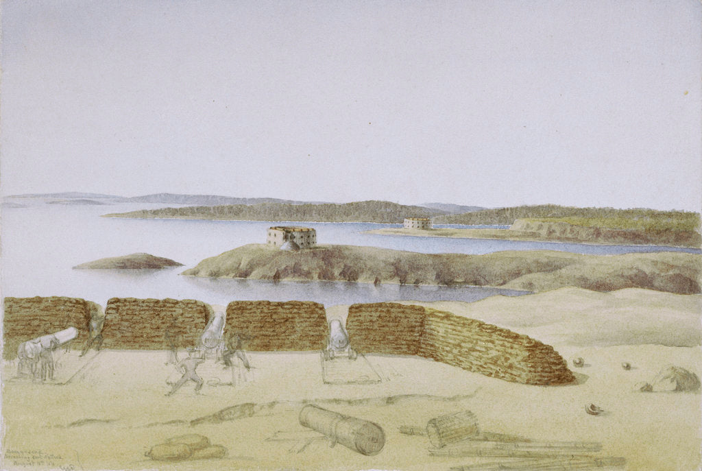 Detail of Bomarsund, Breaching Fort Nottick, August 18th '54 by Col. Durnford