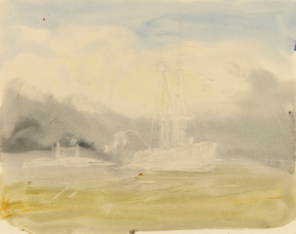 Fighting vessels at sea, 1914-1918 by William Lionel Wyllie