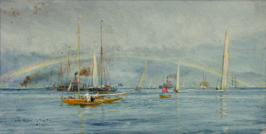Detail of Before the start, Rothesay Bay by William Lionel Wyllie