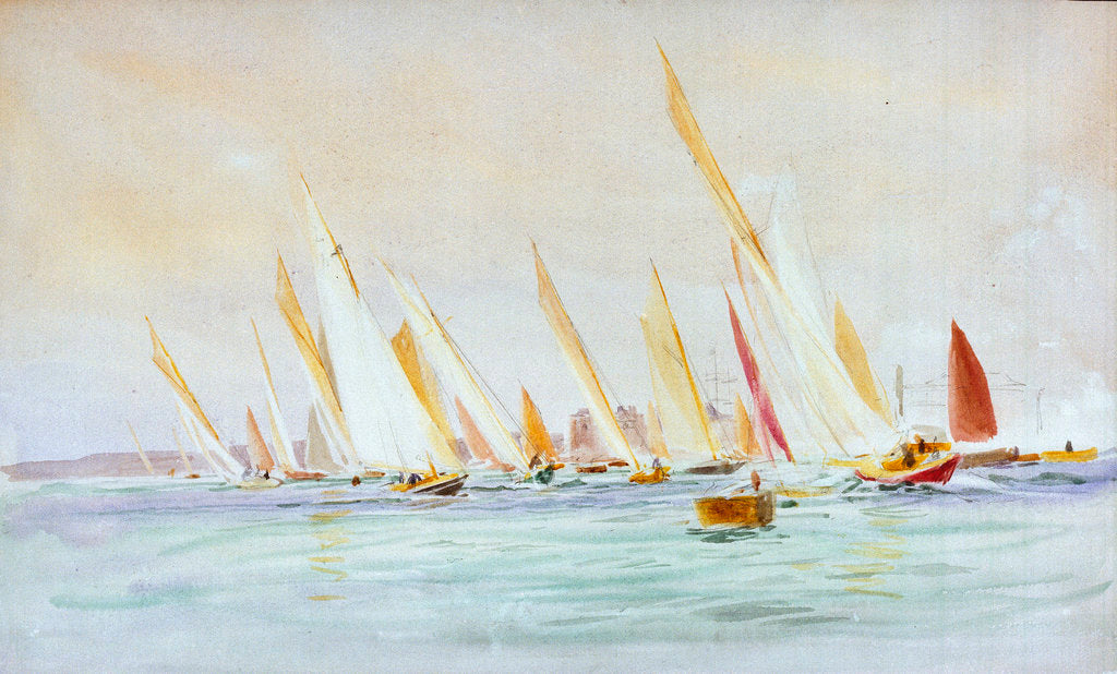Detail of Yachts, Southsea by William Lionel Wyllie