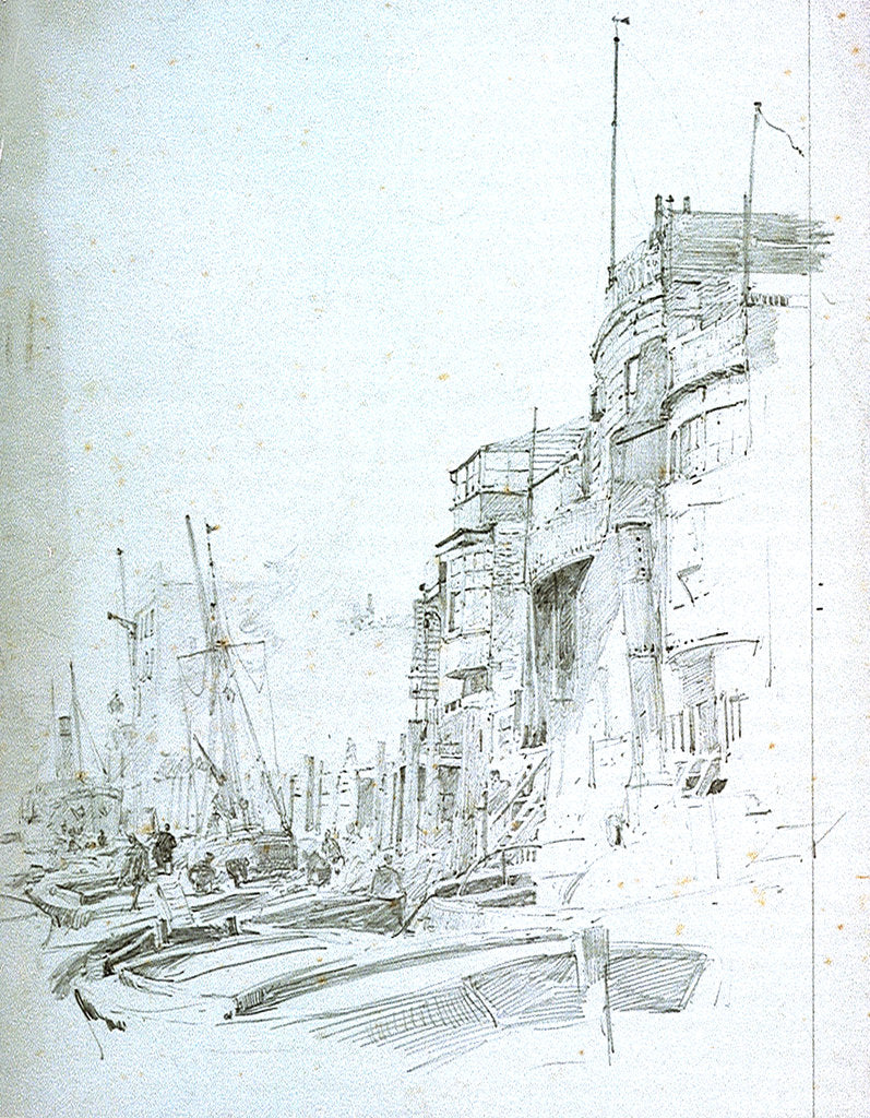 Detail of Wapping by William Lionel Wyllie