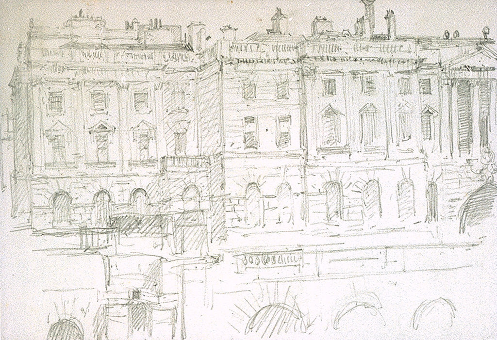 Detail of Somerset House by William Lionel Wyllie