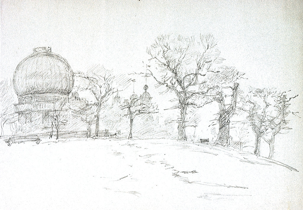 Detail of Greenwich (Royal Observatory) by William Lionel Wyllie