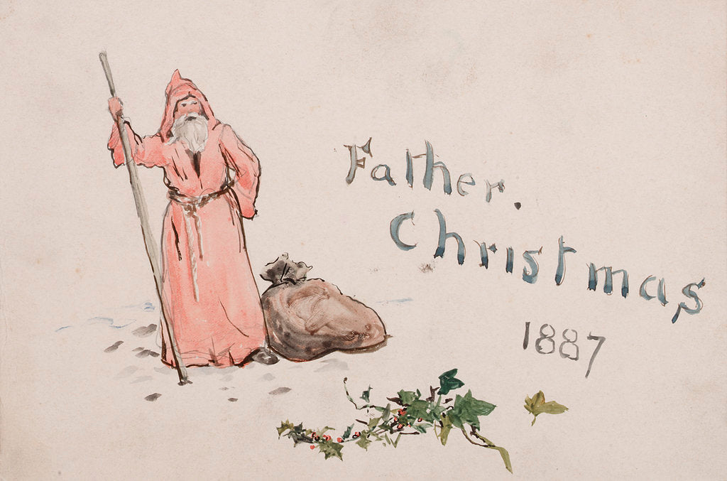 Detail of Father Christmas 1887 by William Lionel Wyllie