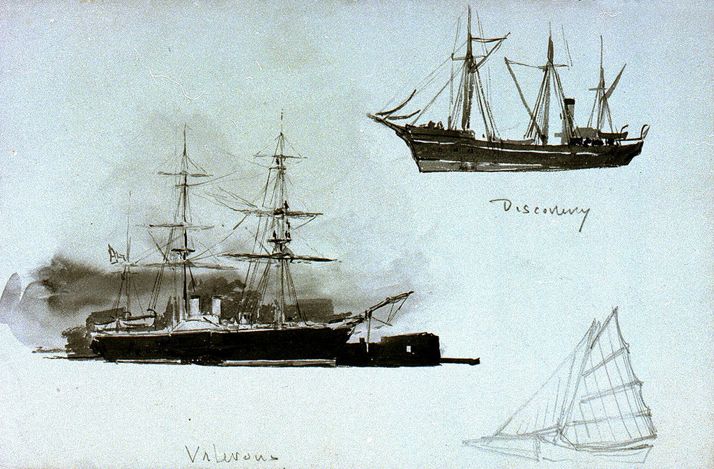 Detail of Discovery', 'Valorous by William Lionel Wyllie