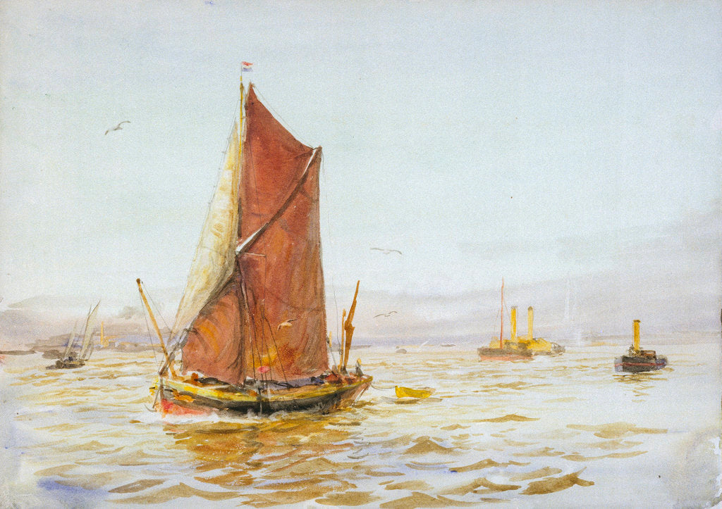 Detail of Barge by William Lionel Wyllie