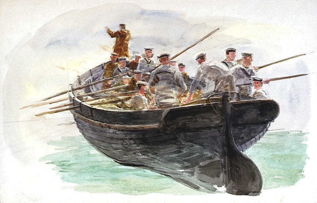 Detail of Boat's crew by William Lionel Wyllie