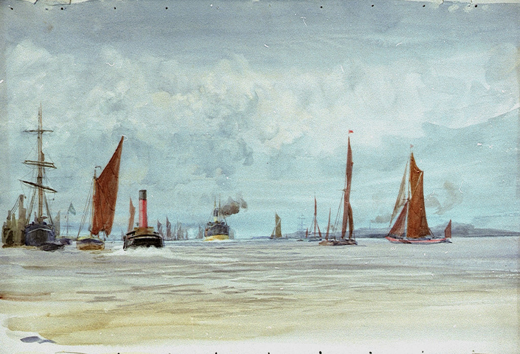 Detail of Thames by William Lionel Wyllie