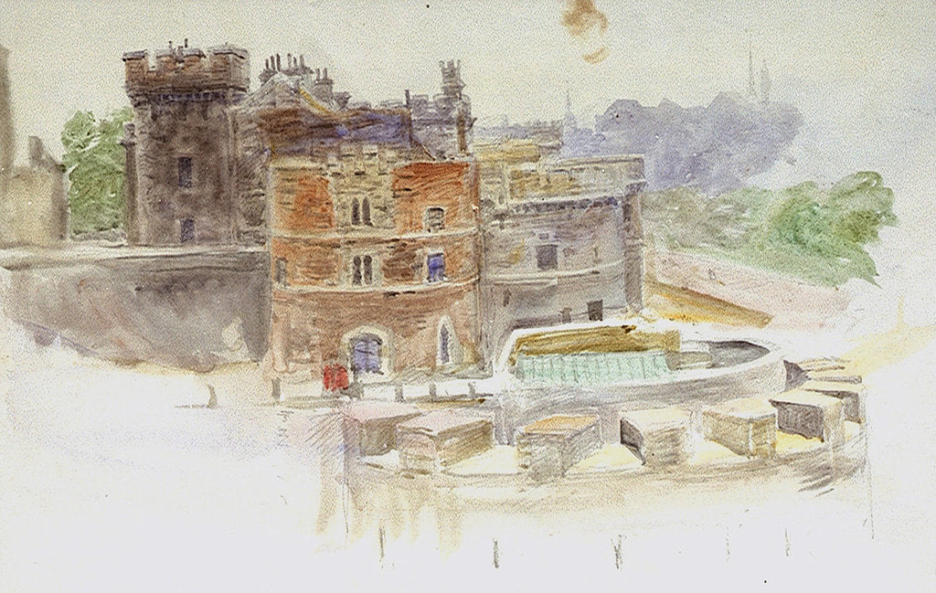 Detail of Tower of London by William Lionel Wyllie
