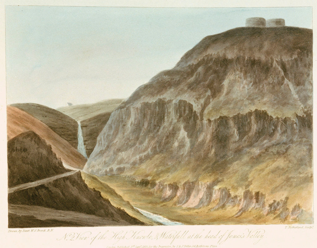 Detail of No 2, View of the High Knowle, & Waterfall at the head of James's Valley by William Innes Pocock