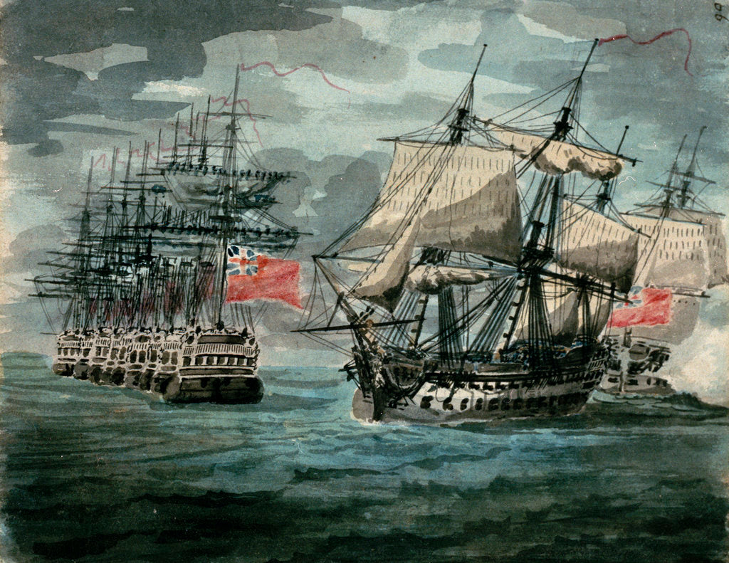 Detail of Squadron of the Red coming into line ahead by D. Tandy