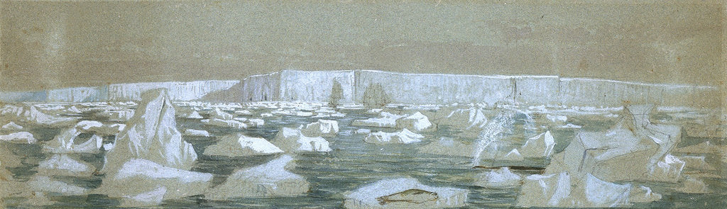 Detail of Part of the South Polar Barrier, 2 February 1841 by J.E. Davis