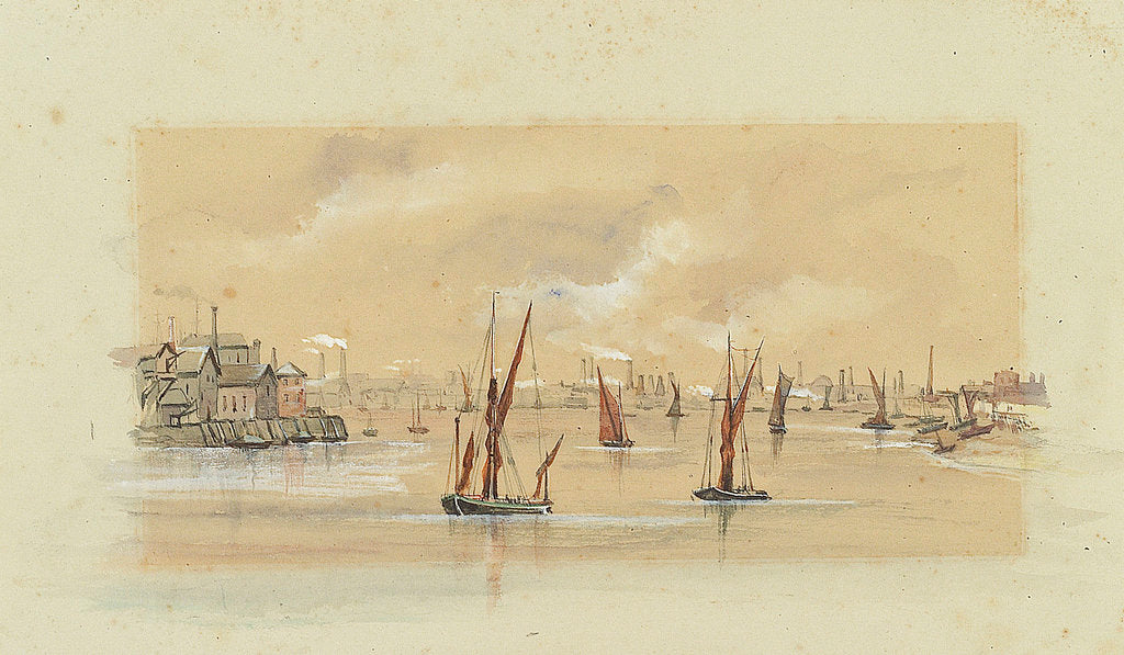 Detail of The Thames below Greenwich by Emily Frances Phipps Hornby