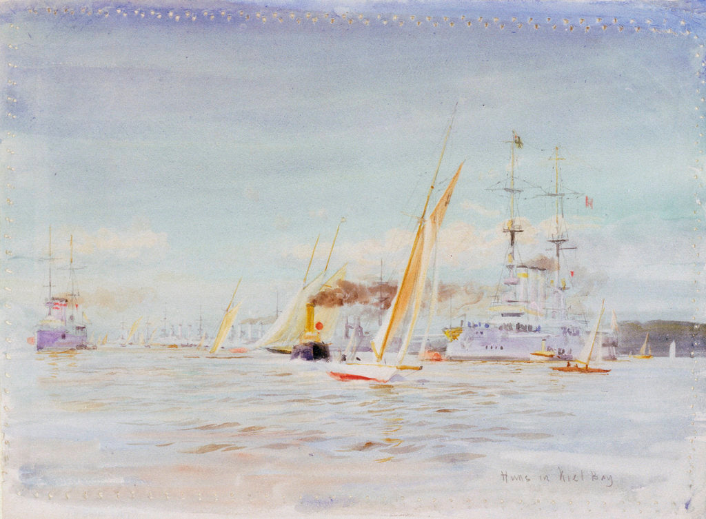 Detail of German fleet, Kiel by William Lionel Wyllie
