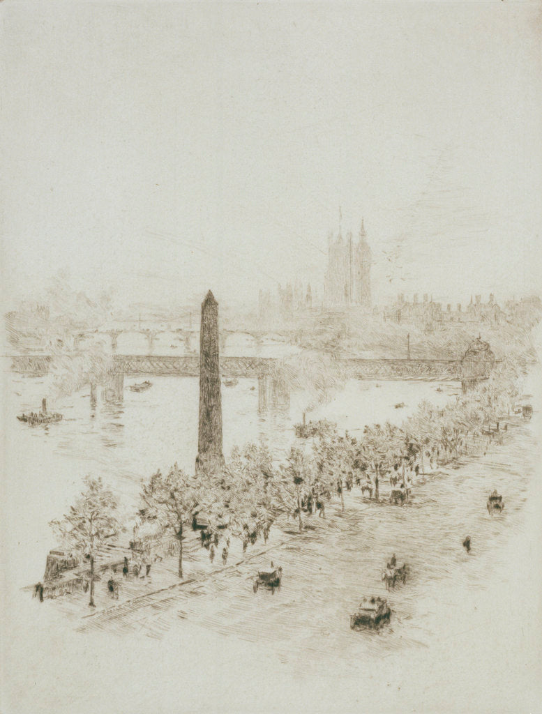 Detail of Cleopatra's Needle by William Lionel Wyllie