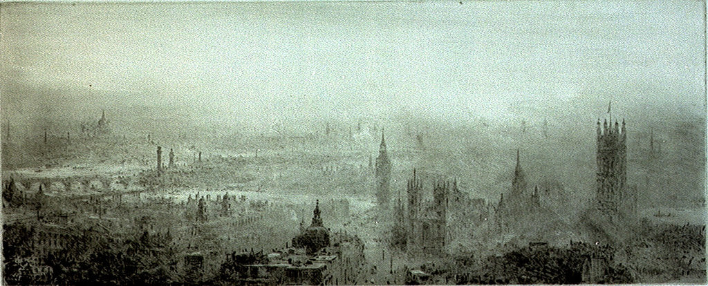 Detail of Panoramic view of London by William Lionel Wyllie