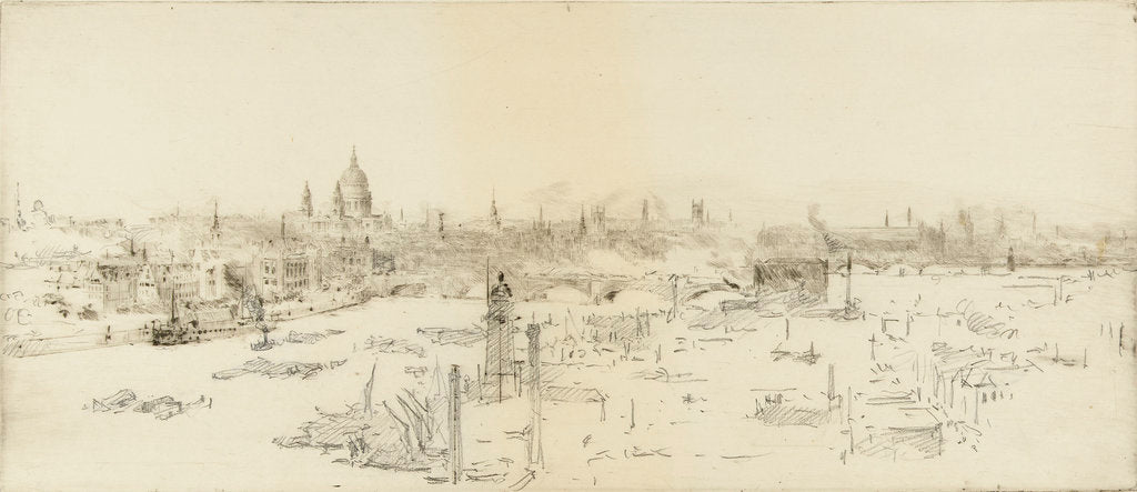 The city of London from the Shot Tower by William Lionel Wyllie