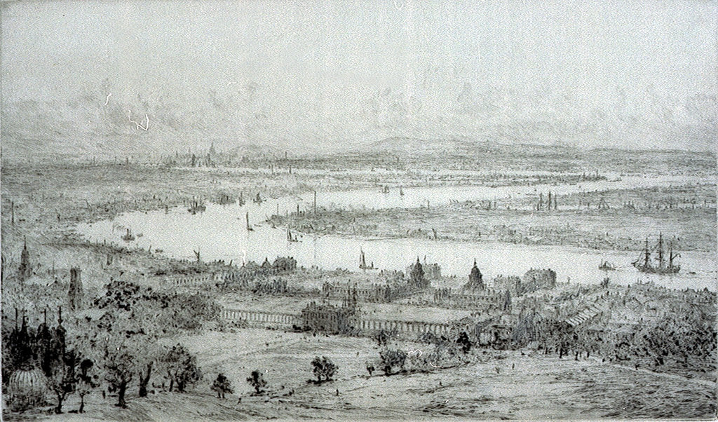 Detail of Greenwich from the South East by William Lionel Wyllie