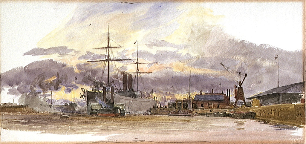 Detail of Tilbury by William Lionel Wyllie
