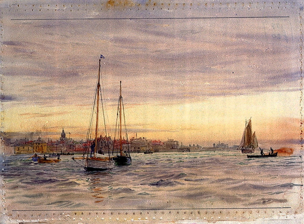 Portsmouth Point by William Lionel Wyllie