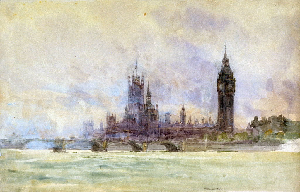 Detail of Westminster by William Lionel Wyllie