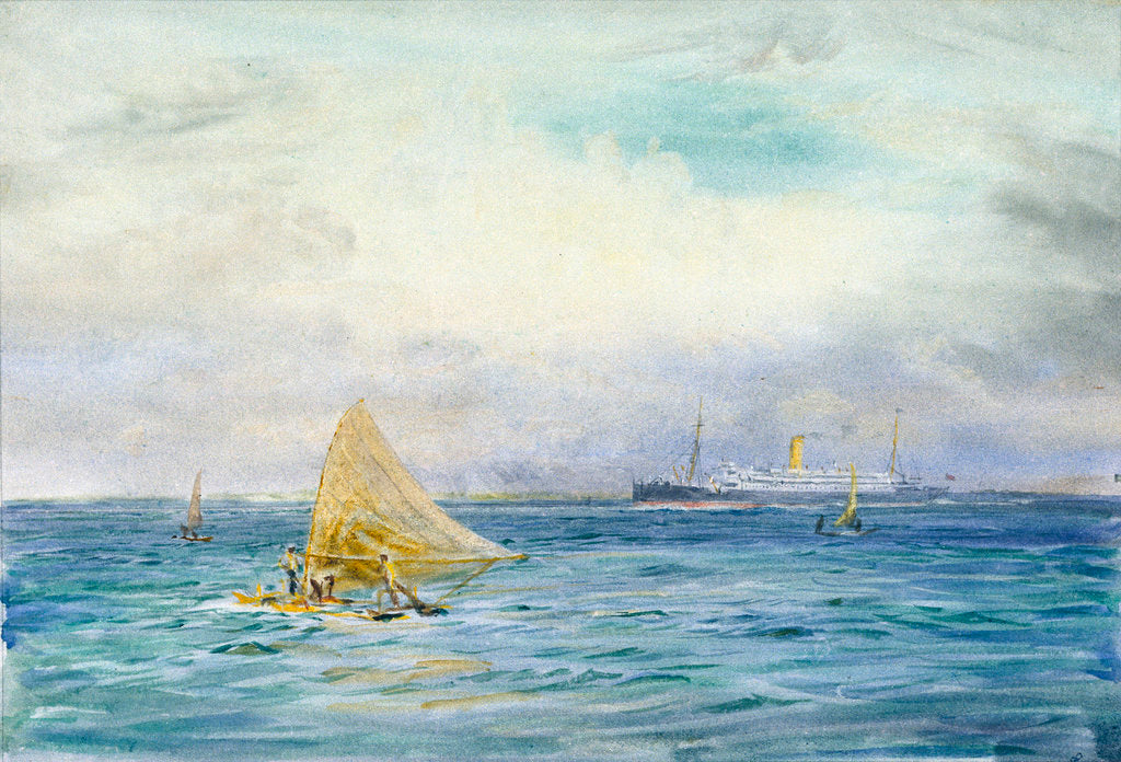 Detail of Catamarans by William Lionel Wyllie