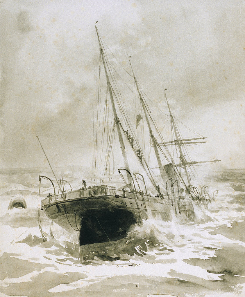 Detail of Shipwreck by William Lionel Wyllie