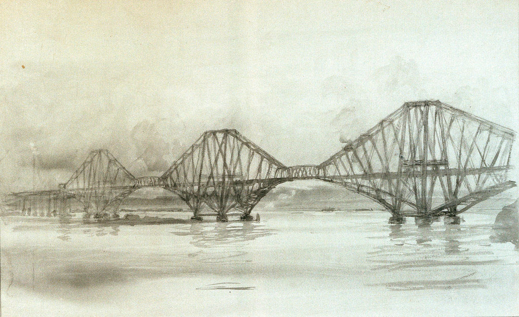 Detail of Forth Bridge by William Lionel Wyllie