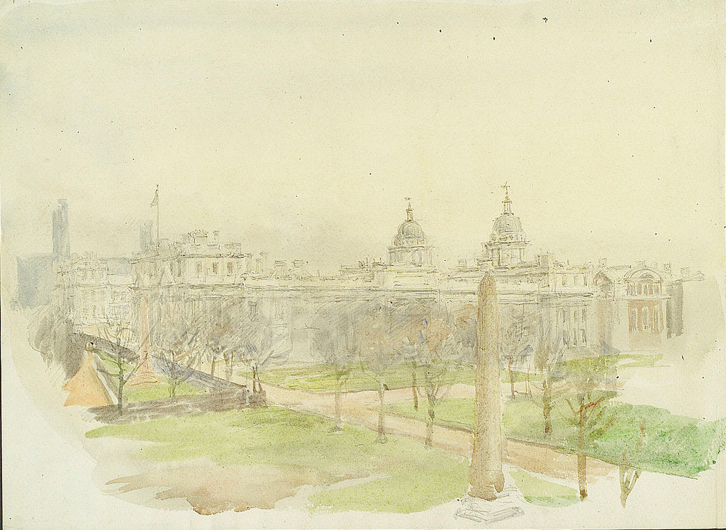Royal Naval College, Greenwich; a study from the north-west by William Lionel Wyllie
