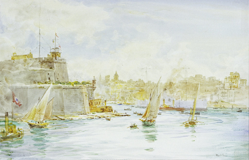 Detail of Malta Harbour by William Lionel Wyllie